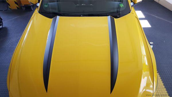 15-20 Ford Mustang Aufkleber Motorhaube - Powerdom Stripe - Breit