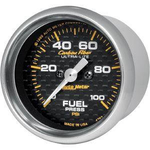 05-12 Carbon Zusatzinstrument Benzindruck - 2 1/16 Zoll