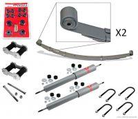 64-66 Komplettset Blattfedern mit Buchsen/Schrauben inkl. Stoßdämpfer