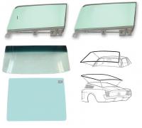67-68 Ford Mustang Fastback Komplettset Scheiben - Grün, Getönt: Ja