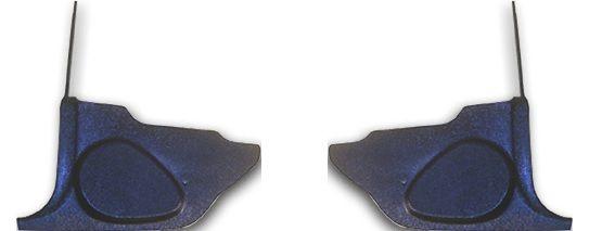 71-73 Ford Mustang Fußraumverkleidung - Schwarz - Ohne Lautsprecher