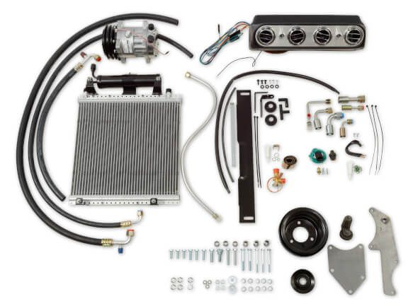 65-66 Ford Mustang (260/289) Klimaanlagennachrüstung - ohne OE Klima - original ''''Underdash'''' Optik