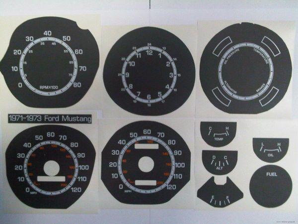 71-73 Tachoscheiben mit km/h Tacho - schwarz