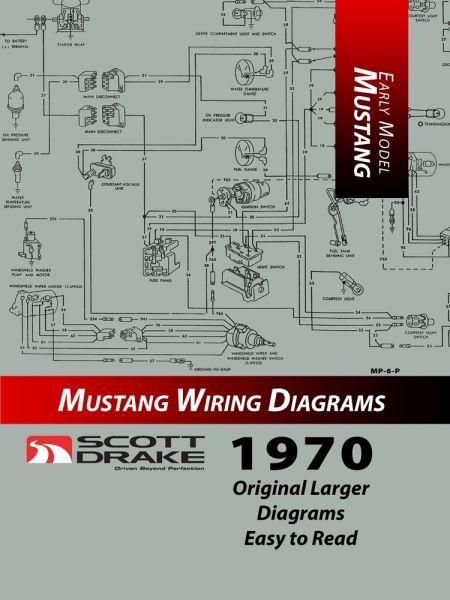 1970 Ford Mustang Technisches Handbuch - Schaltplan groß