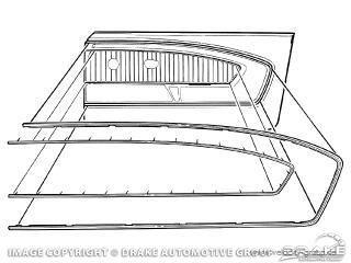 65-66 Ford Mustang Zierelemente für Türverkleidung - Links und Rechts