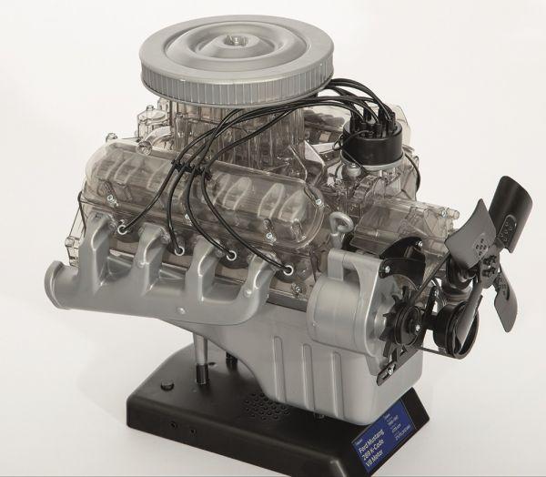 1965 Ford Mustang K-Code V8-Motor-Modellbausatz