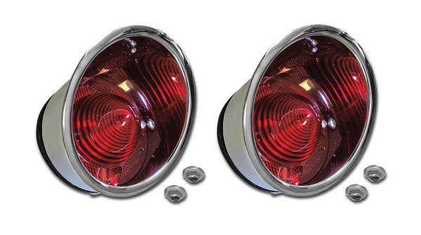 61-62 Chevrolet Corvette Rücklicht komplett - Paar - Außen