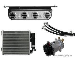 """64-66 Ford Mustang (170/200) Klimaanlagennachrüstung - ohne OE Klima - original """"Underdash"""" Optik"""