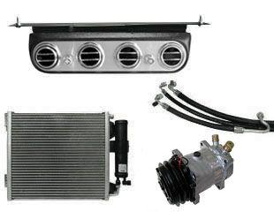 64-66 Ford Mustang (170/200) Klimaanlagennachrüstung - ohne OE Klima - original ''''Underdash'''' Optik