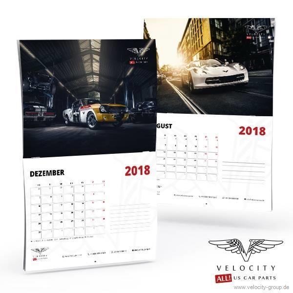 Velocity Jahres Wandkalender 2018