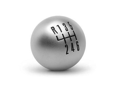 11-14 Schaltknauf für OEM Schalthebel - 6-Gang silber matt