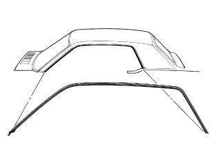 67-68 Coupe Dichtungen für Dachkante - B-Qualität