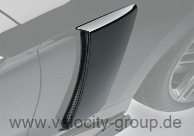 15-19 Ford Mustang Lufteinlass an Seitenwand hinten - ROUSH lackiert Schwarz