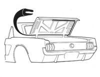 64-70 Ford Mustang Dichtung Kofferraumdeckel