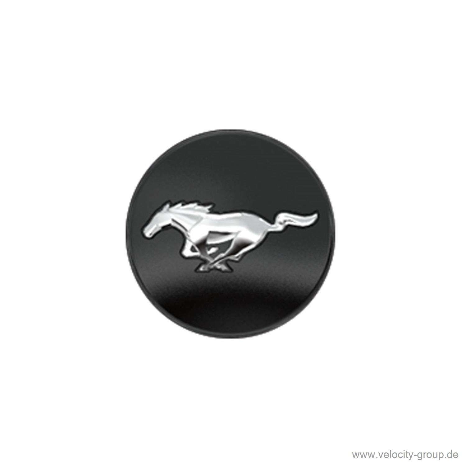 15 17 ford mustang wheel cap black running pony logo m 1096 o