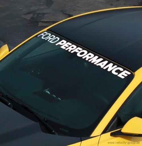 15-19 Ford Mustang Aufkleber Windschutzscheibe - Ford Performance