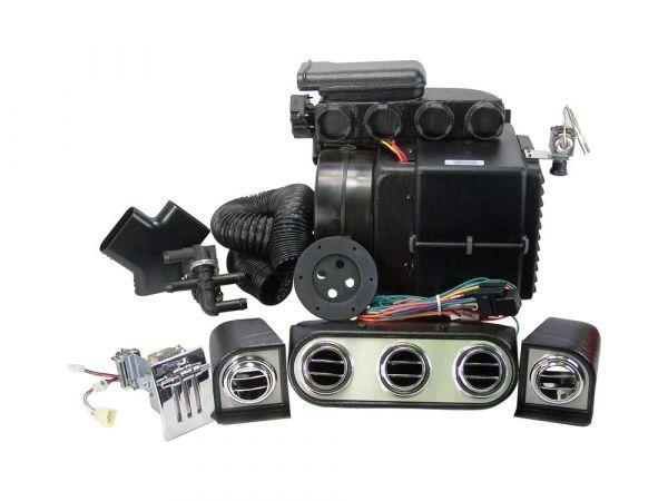 64-66 Ford Mustang Klimaanlagennachrüstung - ohne OE Klima - OE Auslässe - Innenraumpaket - mit elek
