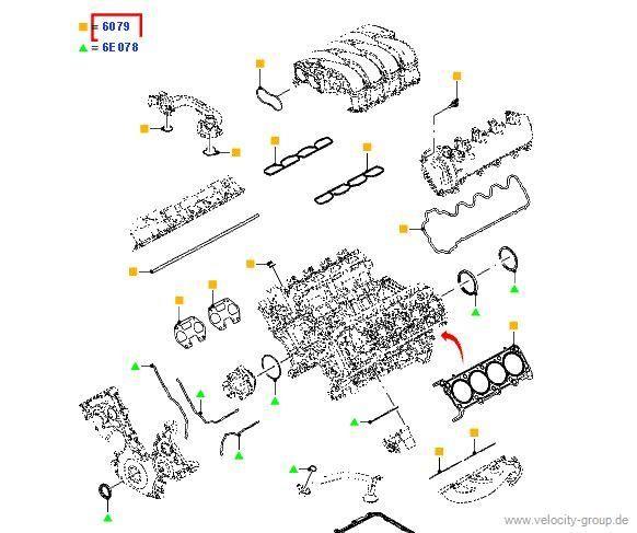 07-09 (ab 05.06.2006) Dichtungen komplett für Motor ''''oben''''