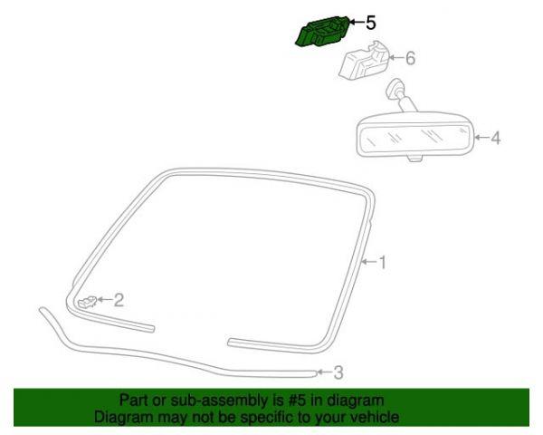 05-14 Ford Mustang Halterung Rückspiegel innen
