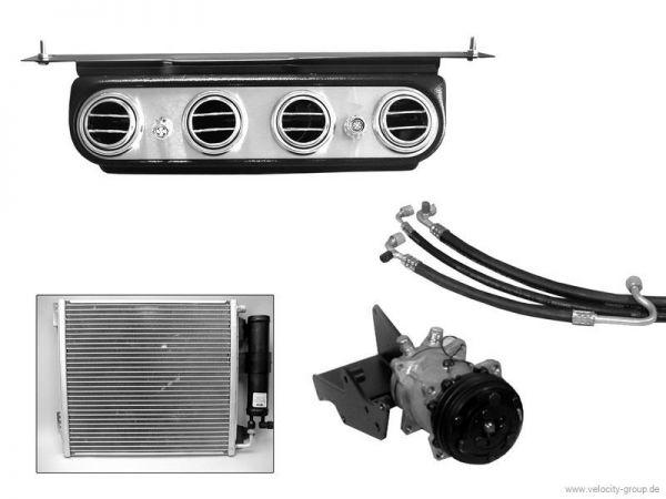 """65-66 Ford Mustang (260/289) Klimaanlagennachrüstung - ohne OE Klima - original """"Underdash"""" Optik"""