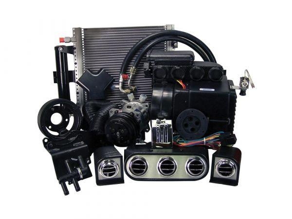 65-66 Ford Mustang (260/289) Klimaanlagennachrüstung - mit el. Steuermodul - mit Riemenscheibe