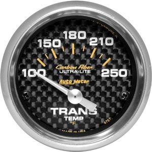 05-14 Carbon Zusatzinstrument Getriebetemperatur - 2 1/16 Zoll