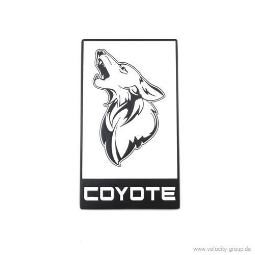15 19 ford mustang emblem heckklappe coyote wei mit. Black Bedroom Furniture Sets. Home Design Ideas