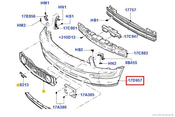 05-09 Mustang GT Frontschürze