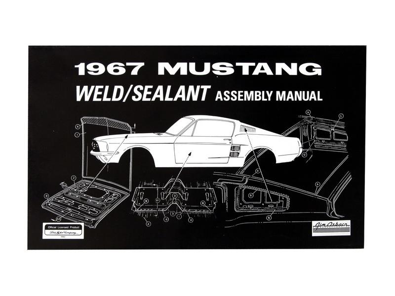 1967 Ford Mustang Reparaturhandbuch - Schweißpunkte und Abdichtung AM-19