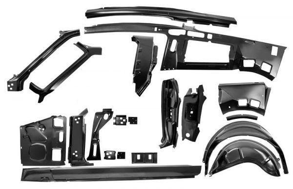 67-68 Ford Mustang Fastback Seitliche Rahmeneinheit - Links