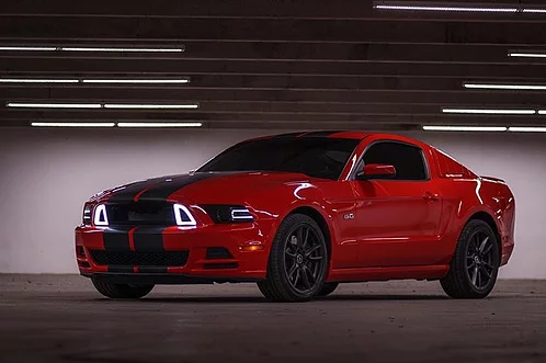 13-14 Ford Mustang Kühlergrill - Offen - LED - weiß - RTR Style