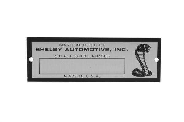 1968 Shelby Blanko Typenschild