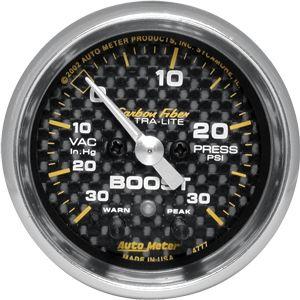 05-12 Carbon Zusatzinstrument Ladedruck - 30 PSI 2 1/16 Zoll