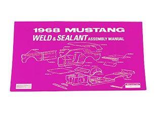 1968 Ford Mustang Reparaturhandbuch - Schweißpunkte und Abdichtung