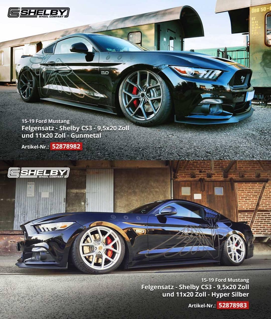 •Vergleich Shelby CS 3 Gunmetal und Hyper Silver Felgen