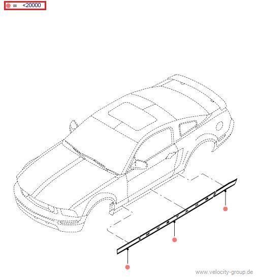 05-09 V6 ''''Mustang'''' Schriftzug für Seite rechts - Schwarz