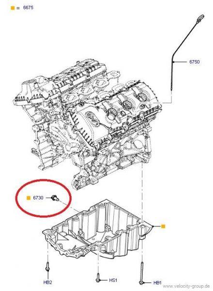 11-18 Ford Mustang Ölablassschraube