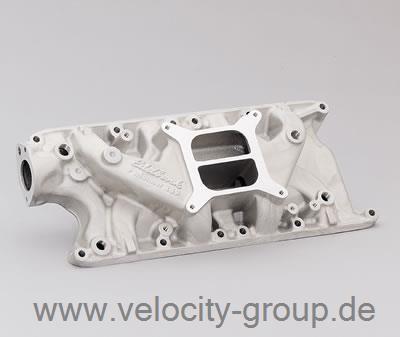 62-85 Ford/Mercury/... Ansaugkrümmer - Edelbrock Performer - Aluminium - Unbehandelt