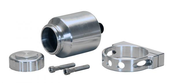 Aluminium Ausgleichsbehälter Bremse/Kupplung 118 ml - inkl. Halterung