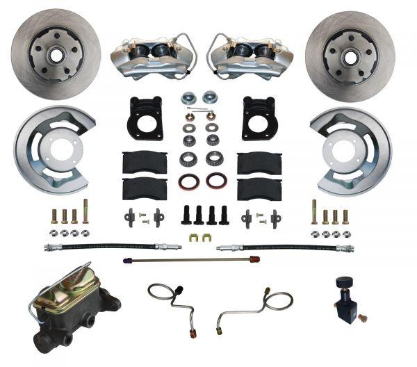 71-73 Ford Mustang Umrüstsatz Bremsanlage - Vorne - Glatt - Mit HBZ und ohne BKV
