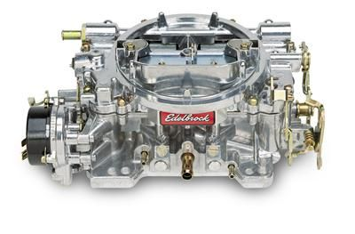 (289/302) Vergaser - Edelbrock Performer - 500 cfm - Aluminium - Elektrischer Choke - Poliert