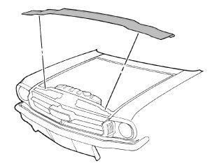 64-70 Ford Mustang Dichtung für Motorhaube