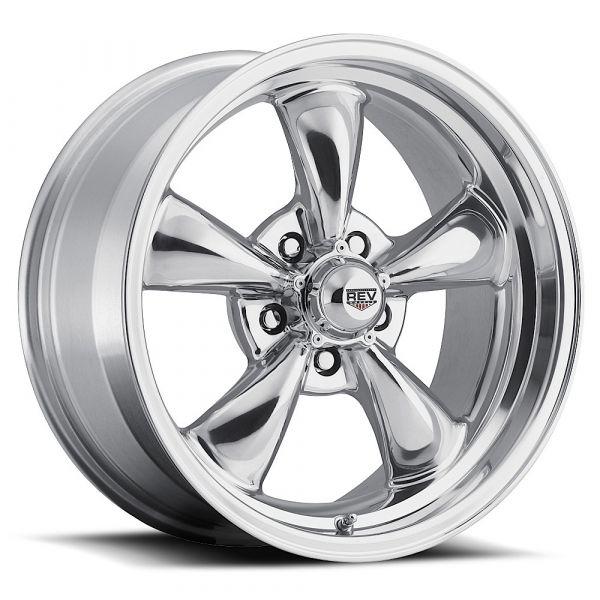 64-73 Ford Mustang  Classic Wheel 17x7 Aluminium poliert