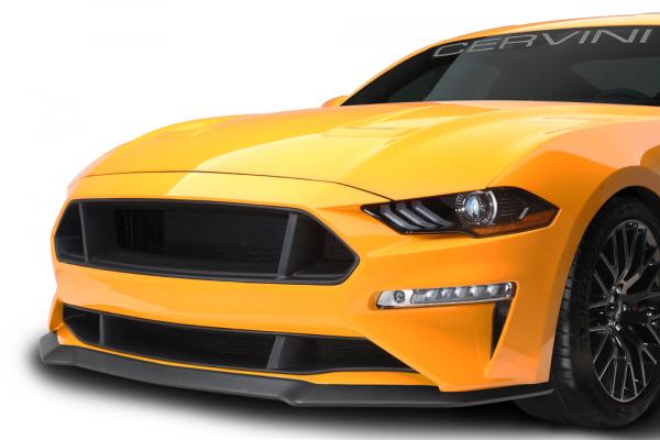 18-21 Ford Mustang Kühlergrill - Cervinis - C-Series - Oben & Unten - Schwarz