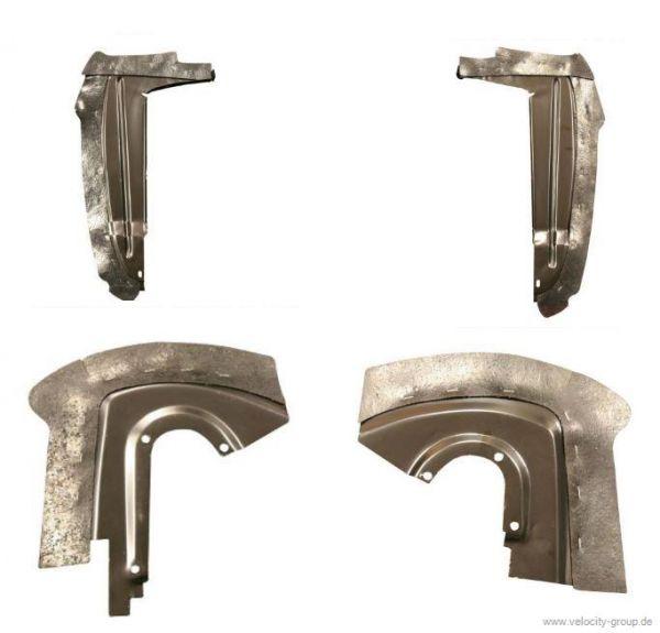 64-66 Spritzschutzbleche komplett für beide Kotflügel inkl. Metall&Gummi
