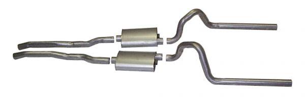 64-66 Ford Mustang (260/289) Abgasanlage - Stahl - 2 Zoll - GT ohne Endschalldämpfer
