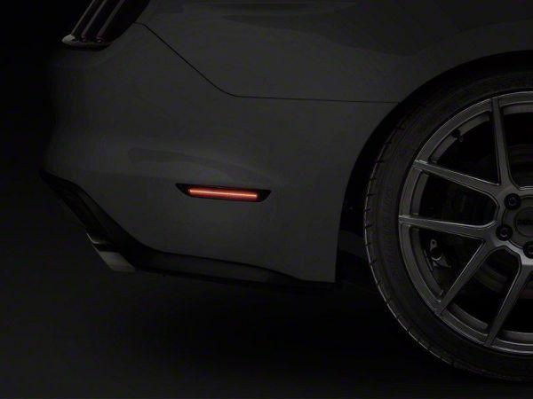 18-19 Ford Mustang Set Seitenmarkierungsleuchten - Rauchglas - LED Leiste - US Style