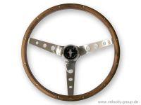 Lenkrad - Grant Classic Nostalgia - 15 Zoll - Holz - Walnuss - Gelocht - Mit Logo