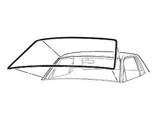 64-68 Ford Mustang Dichtung Windschutzscheibe - Vorne