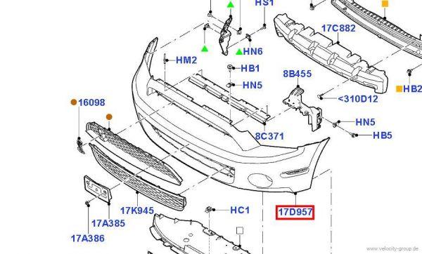 10-14 GT500 Ford OEM Frontschürze